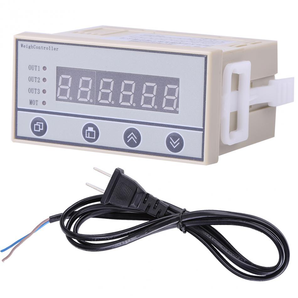 1 PC wägezelle Anzeige Gewicht Sensor 220V Hohe genauigkeit Wiegen Controller Gewicht Anzeige 6 Stellige Led anzeige 2 pin stecker-in Waagen aus Werkzeug bei AliExpress - 11.11_Doppel-11Tag der Singles 1