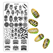 32pcs/lot Nail Stamping Plate Nail Beauty 3D DIY Pattern Rectangle Template Manicure Nail Art Plate