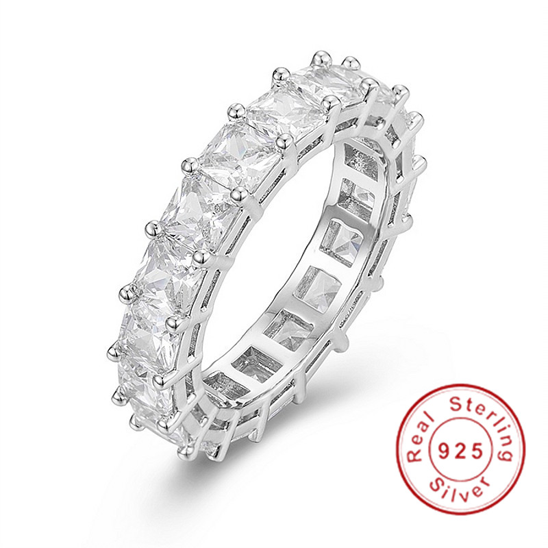 925 SILVER PAVE Asscher cut FULL SQUARE Simulated Diamond CZ ETERNITY BAND ENGAGEMENT WEDDING Stone Rings Size 5,6,7,8,9,10925 SILVER PAVE Asscher cut FULL SQUARE Simulated Diamond CZ ETERNITY BAND ENGAGEMENT WEDDING Stone Rings Size 5,6,7,8,9,10