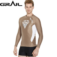 Rash Guard for diving Men Surf guard t shirts Men high quality swimwear long sleeve rash guard sunproof anti uv tee LS 18626