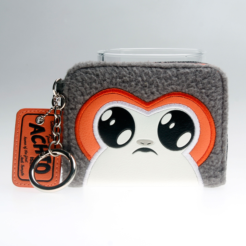 Star Wars Episode 8 Porg Girl. Mini Bi-fold Wallet  Women Black Purse DFT6712