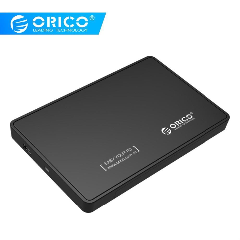 ORICO 2588US-BK 2.5 Inch Hdd Case Portable Sata USB 2.0 External Hard Drive Housing HDD Enclosure Box For Hard Disk SSD Black