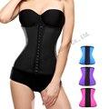 Latex latex cintura cincher Cintura corsets trainer 9 ossos de aço espartilho emagrecimento gaine amincissante trainer cintura cinto Cinto