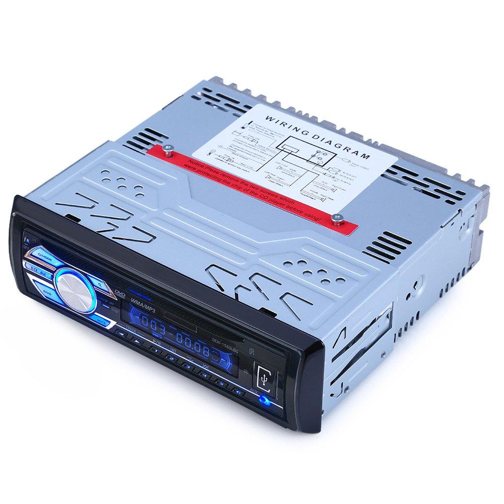 Prix pour 12 V Voiture Audio Stéréo Support USB SD Mp3 Lecteur AUX DVD VCD CD Lecteur avec Télécommande