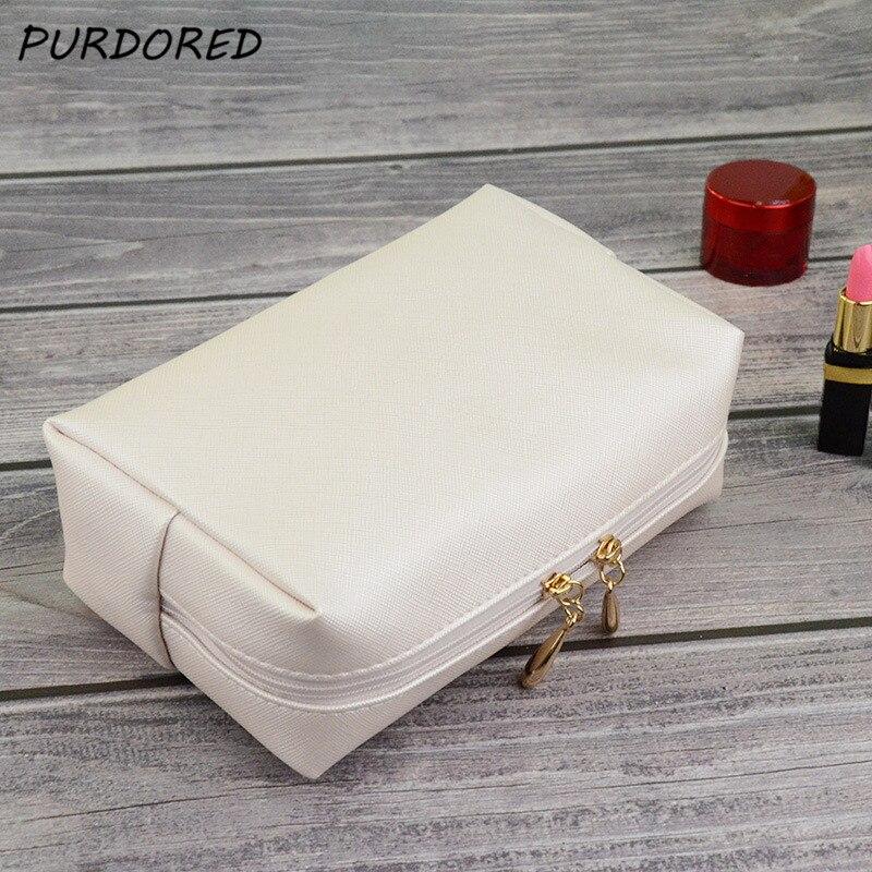 PURDORED 1 pc Solid Makeup Bag Travel Women Cosmetic Bag Toiletry Bag maleta de maquiagem neceser kosmetyczka Dropshipping