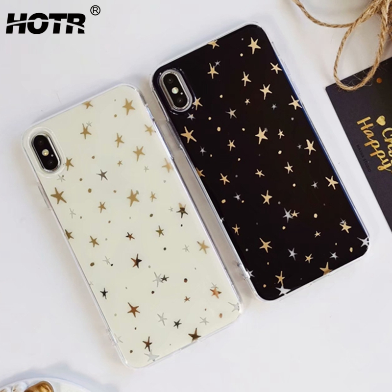 for iphone XS Max Back Case for iphone XR XS 5.8 6.1 6.5 XS Plus Star Soft TPU IMD Cover for Apple X XS Max 9 8 7 6 6s Plus