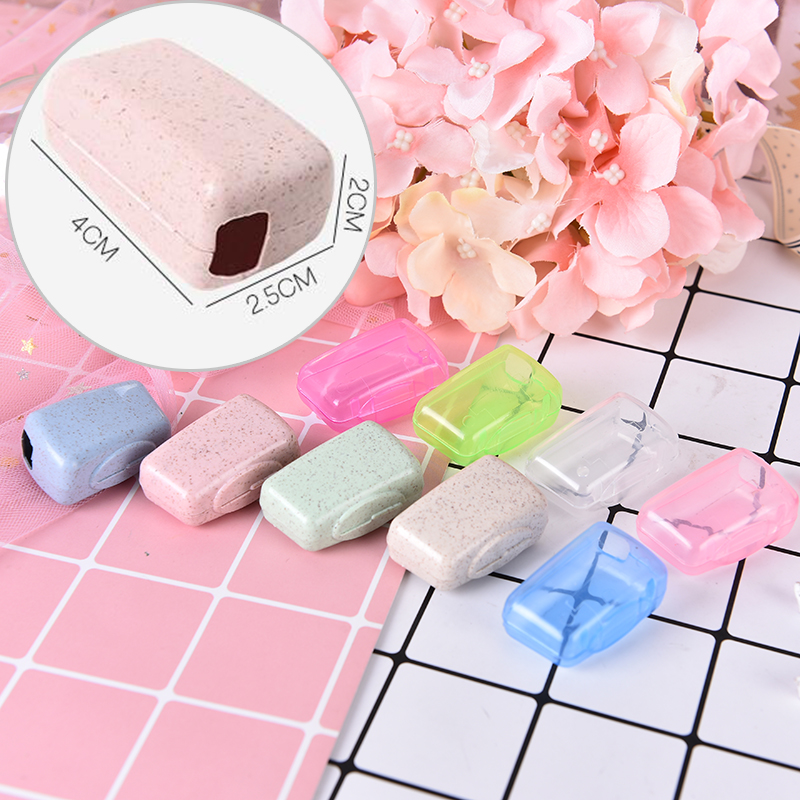 5pcs Tooth Brush Holder Cover Toothbrush Headgear Travel Hiking Camping Brush Cap Case image