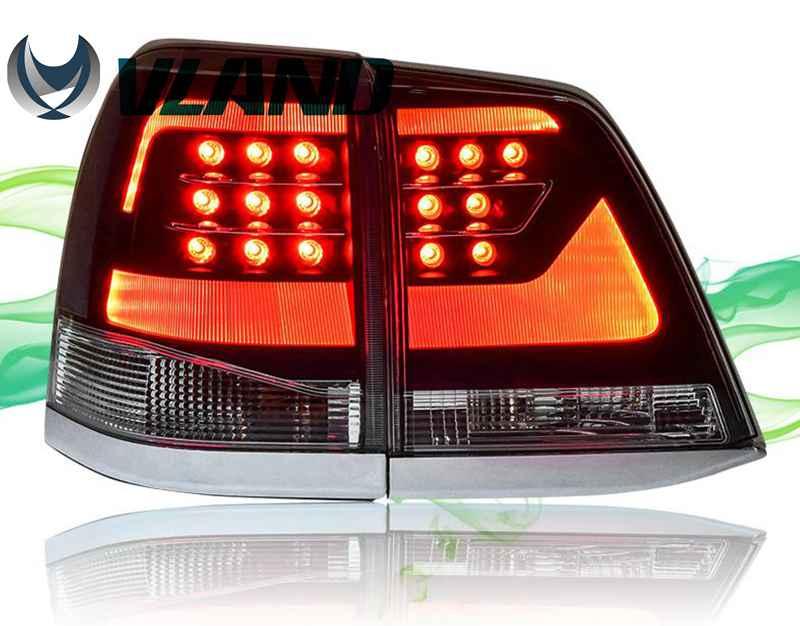 VLAND Factory pro Land Cruiser Car zadní světlo pro LED Taillight 2008 2010 2015 pro Land Cruiser zadní světlo s DRL + zpětný chod + brzda