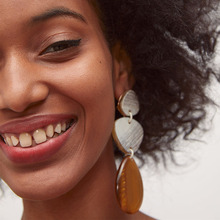 2019 New ZA Brand Designer Boho Gold Colors Earrings For Women Vintage Acetate Acid Plate Geometric Water Drop Jewelry
