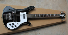 2016 New + Factory + Black Rickenback custom 4003 firglo 4 strings bass guitar ricken bass double output injacks mono & stereo