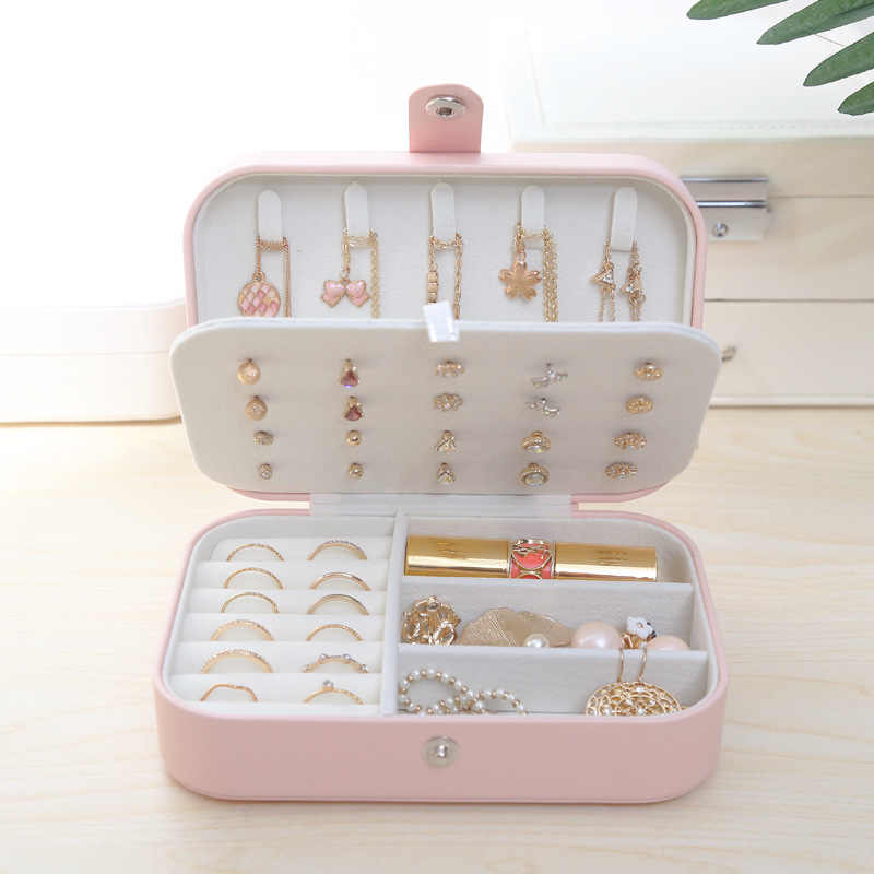luluhut Travel Jewelry storage box for Women jewelry Portable organizer for beads Simple Girl Earrings Plate for jewelry storage