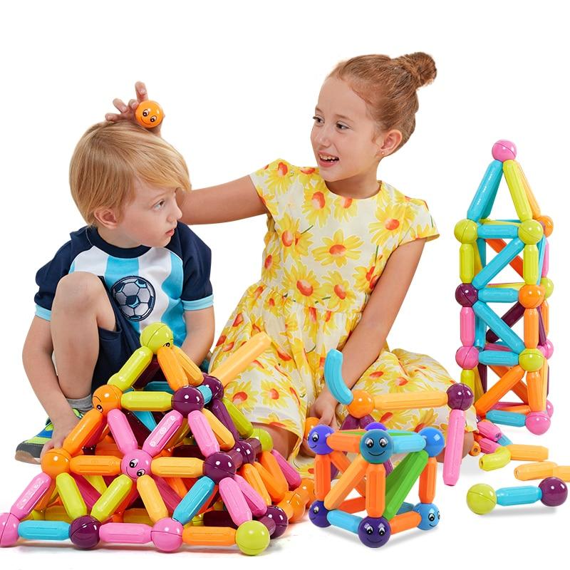 Kidsrun Пластик магнит развивающие игрушки регулярные Магнитный конструктор Строительство игрушки набор для Для детей