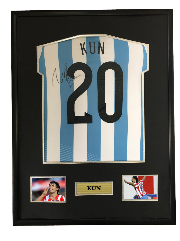 half off 9946d 333a9 US $675.0 |Sergio Aguero signed autographed soccer shirt jersey come with  Sa coa framed Argentina-in Frame from Home & Garden on Aliexpress.com | ...