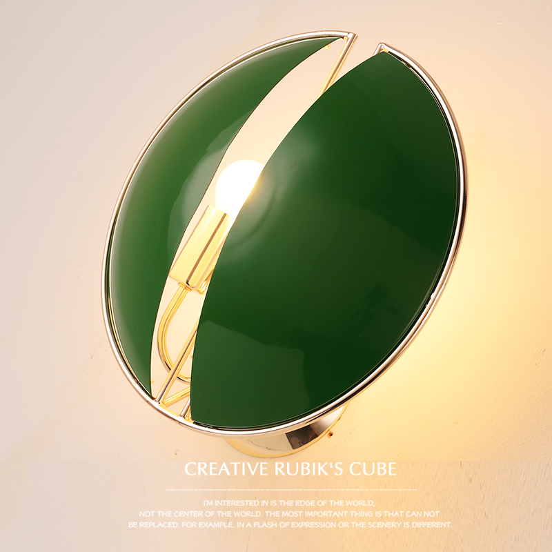 Personalized iron round wall lights creative shopping malls counter office restaurant bar book shop purple/ green wall lamps ZA