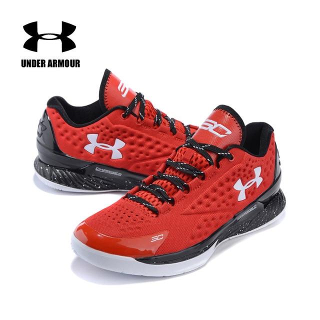 Under Armour Pria Curry 30 V1 Tanda Tangan Basket Sepatu Low-Top Bantal Lampu Bernapas Sneakers Zapatillas Hombre Deportiva