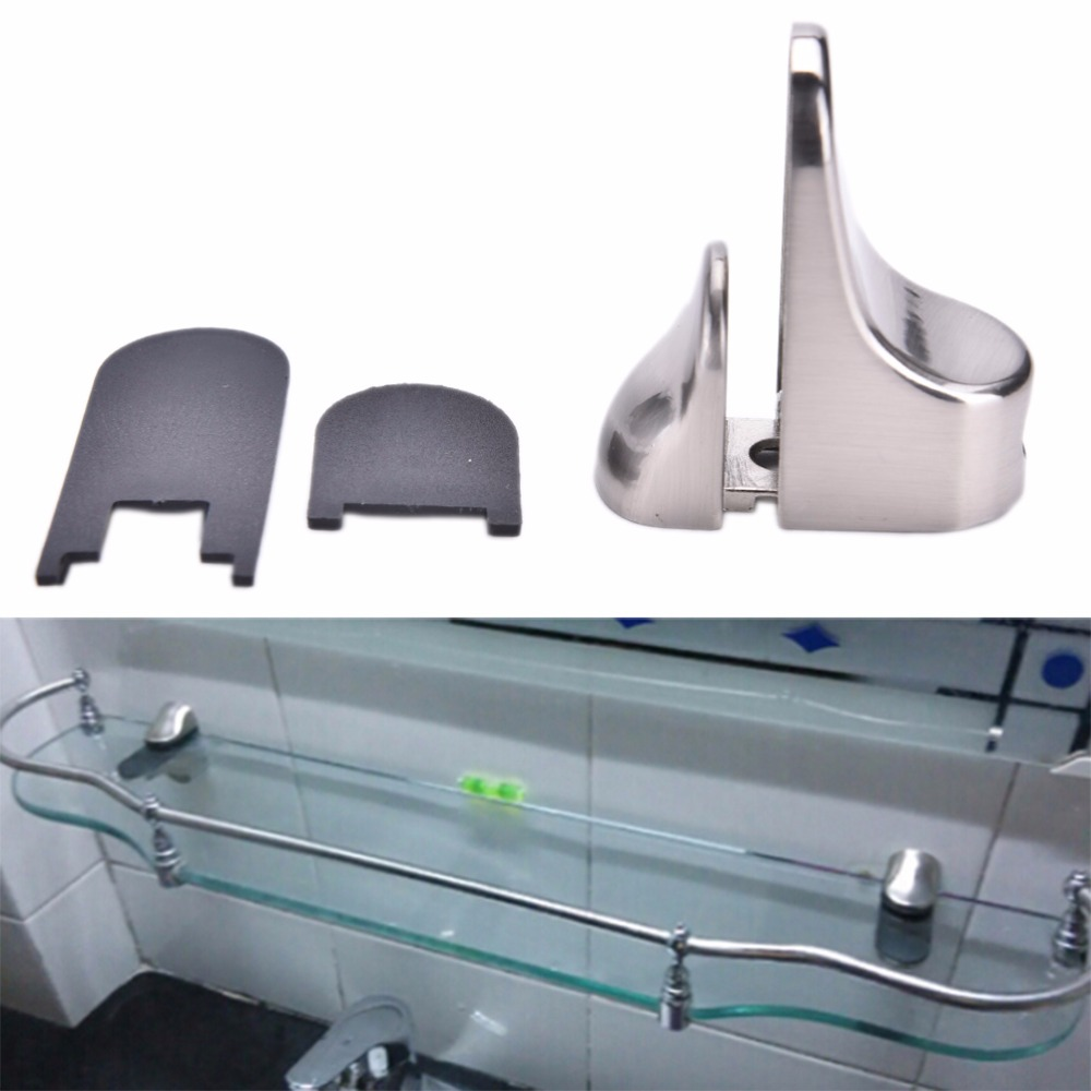 JETTING Glass Shelf Metal Adjustable Bracket Brace Mount Glass Plate ...