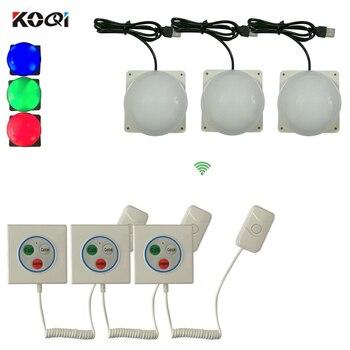 Patient Call Bell System Hotspital Nursing Home Bathroom for Elderly SOS Alarm System 3 corridor light + 3 emergency bel