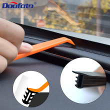 Doofoto Car Windshield Sealant Dashboard Soundproof Strip Rubber Noise Insulation Anti-Dust Panel Sealing Accessories