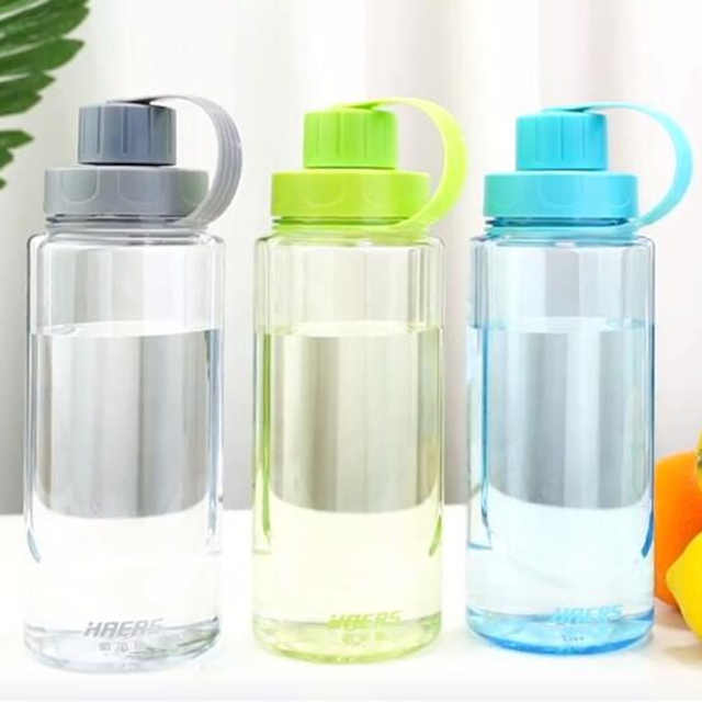 Haers Portable Eco Friendly Plastic Water Bottle Handgrip Sports With Tea Infuser Climbing Hiking Bottle 1000/1500/2000ml