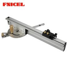 450mm/600mm/800mm Miter Gauge Aluminium Fence with Flip Stop Aluminium Profile 70mm height T-tracks