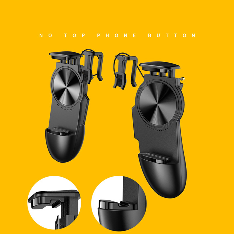 Image 5 - S12 Smart Phone Mobile Gaming Trigger PUBG Gamepad Controller L1R1 Shooter Trigger Fire Button Aim Key Joystick-in Gamepads from Consumer Electronics