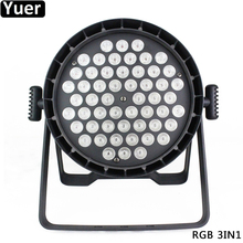 New Aluminum Par Lights 54x3W RGB 3IN1 LED Stage Light DMX512 DJ Disco Color Music Wedding Party Club Bar Lighting