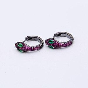 Image 3 - Einfache Mode Einzigartige Kreative Schlange Ohrringe Kleine Und Exquisite Lustige Tiere Ohrringe Für Frauen ZK40