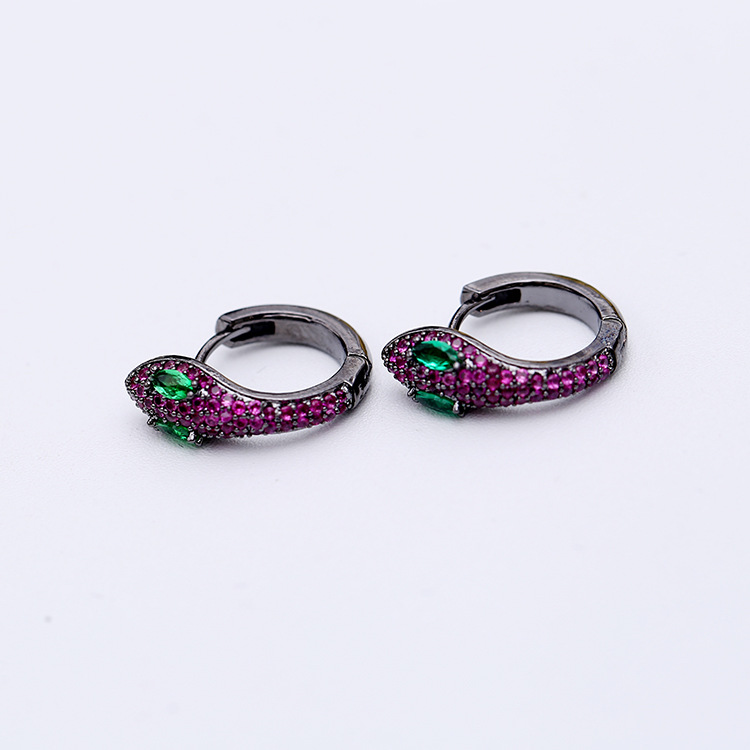 Image 3 - Simple Fashion Unique Creative Snake Earrings Small And Exquisite Funny Animals Earrings For Women ZK40-in Drop Earrings from Jewelry & Accessories