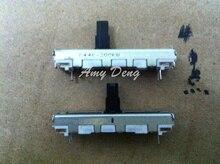 20 шт./лот 4 см слайд potenometer одного стыка 200KW с промежуточным posioning вал plasc 10 мм