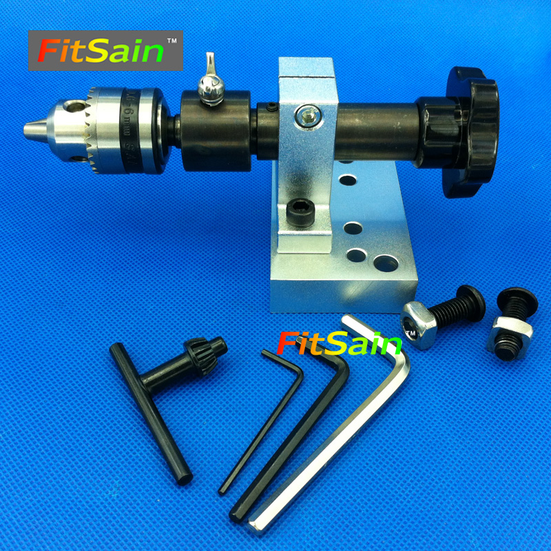 FitSain--Adjustable Precision live center for lathe machine Revolving Centre DIY accessories for Mini lathe B10 Drill chuck