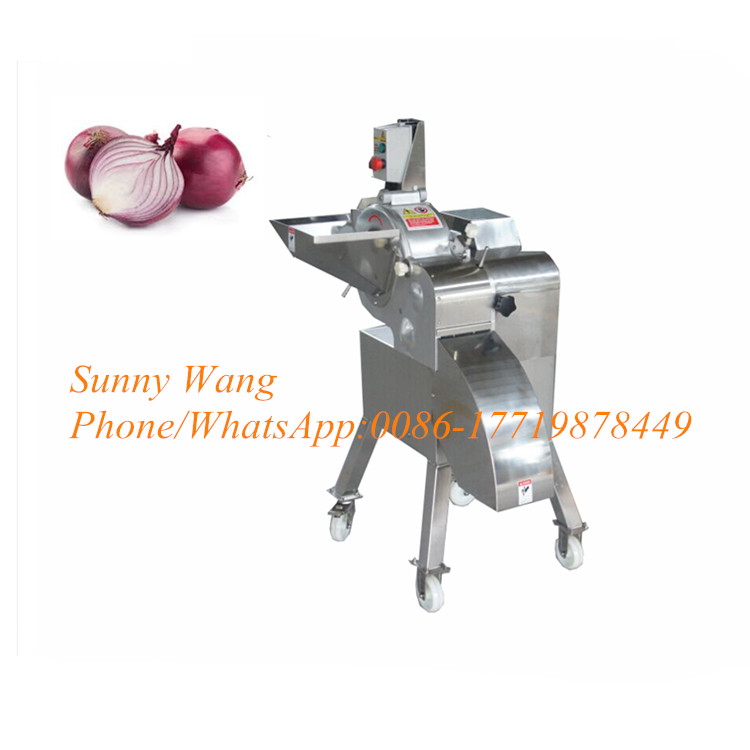 500-1000 Kg / Hour Multifunction Vegetable Potato Cutter Onion Slicing Cutting Machine