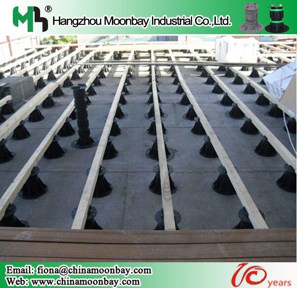 Adjustable Plastic Raised Floor Pedestal Systems On