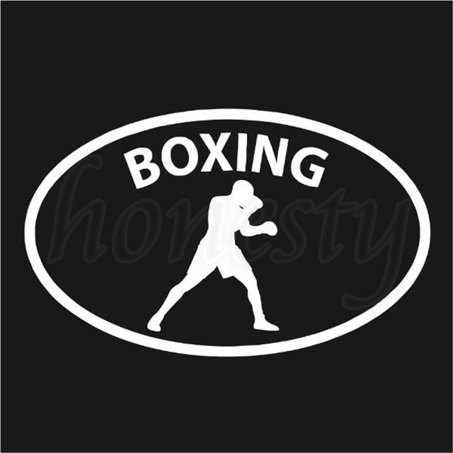 Boxing glove sport car sticker laptop vinyl decal window glass bumper van decor sports pc bumper