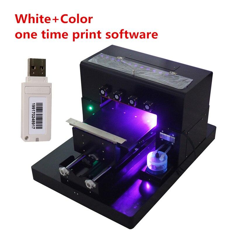 2018 A4 Kleine größe UV Drucker Uv-flachbettdrucker für Telefon Fall, T-shirt, leder mit RIP 9,0 software