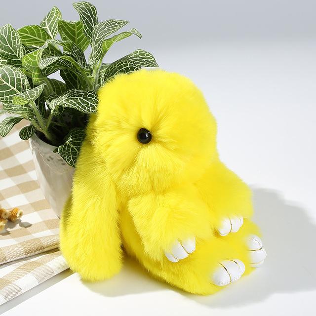 Piel de Conejo Rex pelo de conejo colgante mochila bolsa adornos adornos cadena de telefonía móvil decoración envío gratis aroud 15 cm