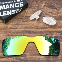 ToughAsNails Resist Seawater Corrosion Gold Mirrored Polarized Replacement Lens and Clear Nose Pads for Oakley Probation