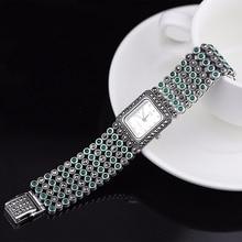 Hot Sale font b Women b font Classic Thai Silver Bracelet Watch S925 Silver Bracelet Watch