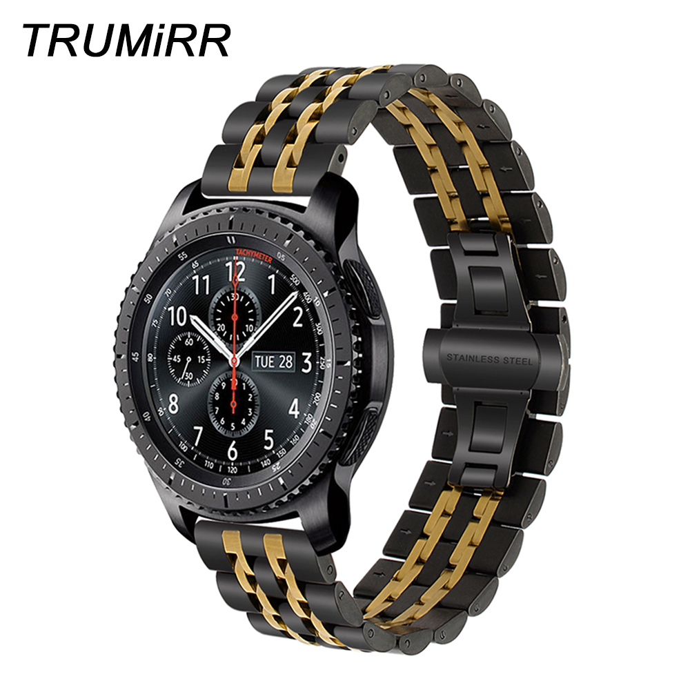 22mm Premium Stainless Steel Watch Band for Samsung Gear S3 Classic Frontier Gear 2 Neo Live Quick Release Strap Wrist Bracelet 22mm replacement strap for samsung gear s3 classic watch band sport silicone bracelet strap for samsung gear s3 frontier band
