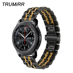 Image 1 - 22mm Premium Stainless Steel Watch Band for Samsung Gear S3 Classic Frontier Gear 2 Neo Live Quick Release Strap Wrist Bracelet