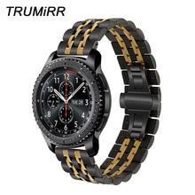 22mm Premium zegarek ze stali nierdzewnej dla Samsung Gear S3 Classic Frontier Gear 2 Neo Live Quick Release bransoletka w stylu paska na nadgarstek