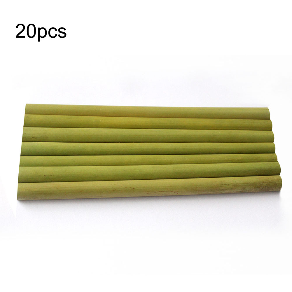 20PCS Bamboo Straw Reusable Straw 23cm Organic Bamboo Drinking Straws Natural Wood Straws For Party Birthday Wedding Barware New
