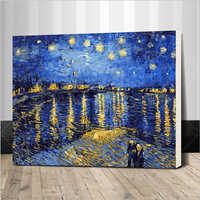 Frame Christmas Snow Sets Landscape Painting Diy By Numbers Drawing Painting By Numbers Unique Gift For