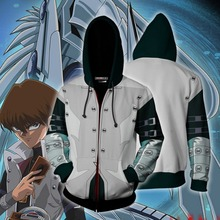цена на Seto Kaiba Yu-Gi-Oh:Official Card Game Sweatshirts Hoodie Anime Jackets Man Women Top 3D Print Coat  Cosplay Costume