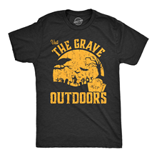 Mens Visit The Grave Outdoors Tshirt Funny Halloween Cemetary Tee For Guys Harajuku Tops Fashion Classic Unique free shipping