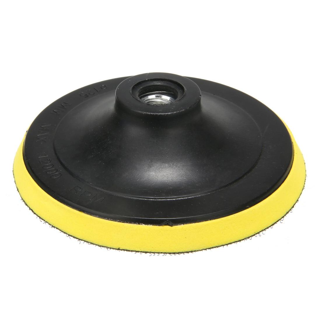 M14 подложки полировки пластины диск клей Поддерживаемые Крючки 75 мм 125 мм для Автомобильная полировальная подушка