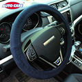 Auto Care Suede Velour Super Soft Car Steering-Wheel Cover Universal Gray/Black 2 Colors Steering Wheel Covers Interior Grey