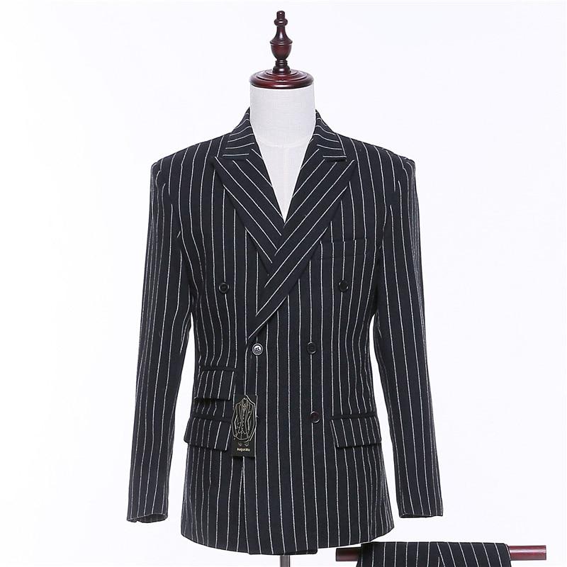New Mens Casual Blazers Jacket Wedding Coats Black/White