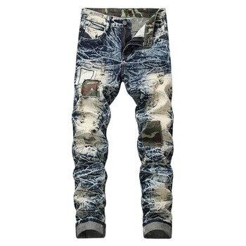 667eab103 Vaqueros de algodón de los hombres de la primavera de 2019 hombres ropa  Casual recto de Denim Pantalones Casual pantalones vaqueros con