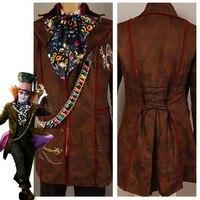 Alicja W Krainie Czarów Johnny Depp Kurtka Spodnie Tie 6 sztuk Movie Szalony Kapelusznik Halloween Cosplay Costume