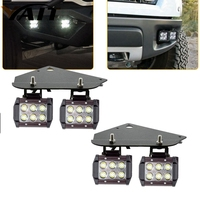 Yait светодиодный бампер стручки туман свет + Кронштейны для Ford F150 SVT Raptor 2010-14